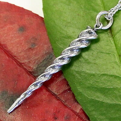 Unicorn Horn Pendant Necklace Sterling Silver Alicorn Horn Charm Jewelry 502