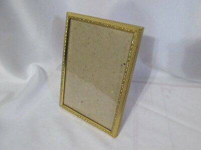 Vintage Ornate Metal Picture Frame for 5X7 Photo w/Glass & Velvet Easel Back
