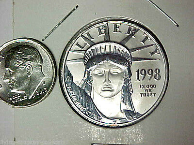 1998 $50 Platinum 1/2 oz American Eagle .9995 Fine Platinum Uncirculated Coin