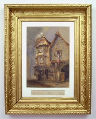 Bristol- Christmas Steps, Lewins Mead- Very Old Watercolour -G.Stephanoff c1800