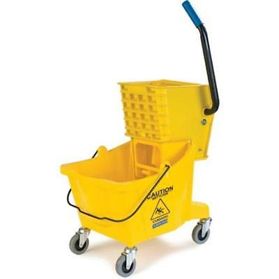 CFS 16.5x16.5 in. 26 qt. Side Press Bucket with Side Press Wringer Combo, Yellow