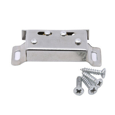 Silver Long Stainless Steel Silver Tone Cupboard Door Magnetic Catch Latch S