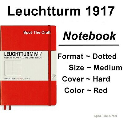 Leuchtturm1917 Dotted Journal Notebook Medium A5 Red 313627