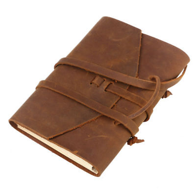 Blank Paper Leather Cover Journal TRAVEL Notebook Travellers Diary Handmade Gift