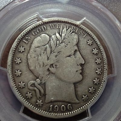 1906-O   PCGS  F-15  Barber Half Dollar   Almost a Full Liberty