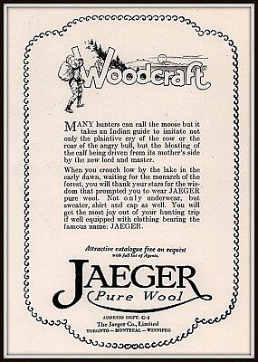 1924 Ad  Jaeger Pure Wool Underwear And Clothing