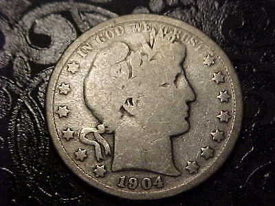 1904-P   Barber Half Dollar  Nice Coin  Y and part of T