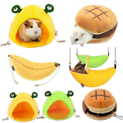 Small Animal Hanging Bed Cave Warm Cute Nest For Pet Hamster Squirrel Hedgehog
