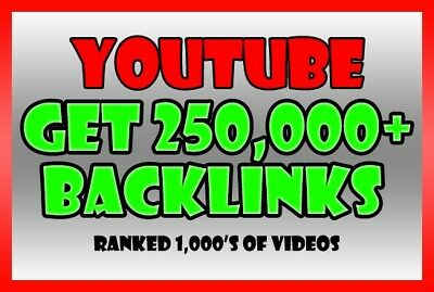 250,000 backlinks For YouTube Video SEO Rank Your Video Up Higher + Report