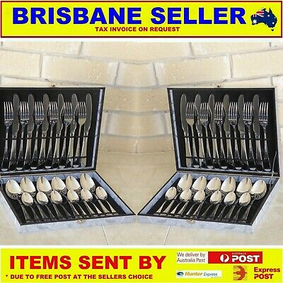 Cutlery Set Stainless Steel 24 Pc 6 Knives, 6 Tablespoons, 6 Forks 6 Tablespoons