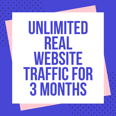 3 Months Unlimited Real Web Traffic Hits For Your Website 90 Days + Live Stats