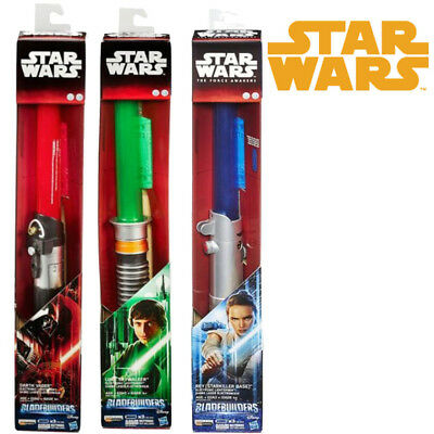 "Toy Star Wars Hasbro ELECTRONIC Lightsaber ""Bladebuilders"" REY YODA DARTH VADER"