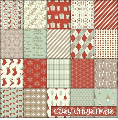 COSY CHRISTMAS SCRAPBOOK PAPER - 20 x A4 pages.
