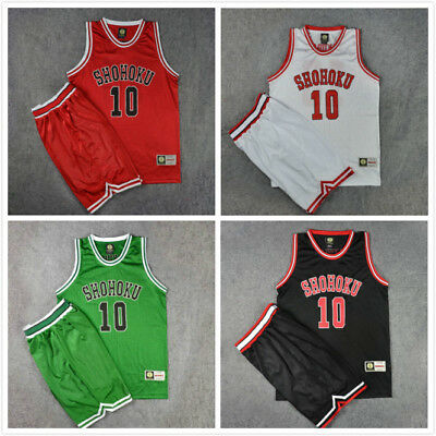 Anime Slam Dunk Sakuragi No10 Basketball Costume SHOHOKU Jersey Full Set Cosplay