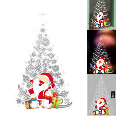 Christmas Applique Wall Stickers Tree Mall Shop Window Glass Door Xmas Decors
