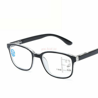 Progressive Multifocal Lens Blue Film Anti-radiation Reading Glasses +1.0 - +4.0