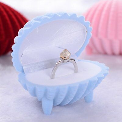 Shell Shape Velvet Display Gift Box Case Lady Jewelry For Necklace Earrings Ring
