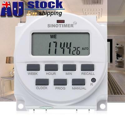SINOTIMER DC 12V LCD Digital Programmable Control Electronic Power Timer Switch