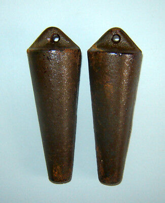 "Pair Old Vintage  Cuckoo Clock Weights Collectibles 4 1/2"" length"