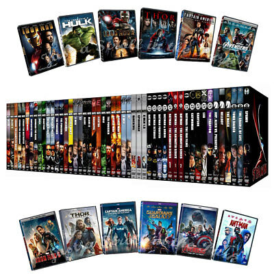 Action Marvel Comics Stan Lee Movies Collection Adventure Superhero DVD Gift Lot