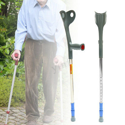 Height Adjustable Forearm Elbow Underarm Medical Crutches Walking Stick Aid