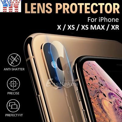 2x iPhone XS Max XR X 6 7 8 plus Camera Lens 9H Tempered Glass  Screen Protector