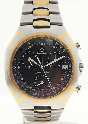 Omega Seamaster Chronograph In Stahl/gold 90Iger Jahre