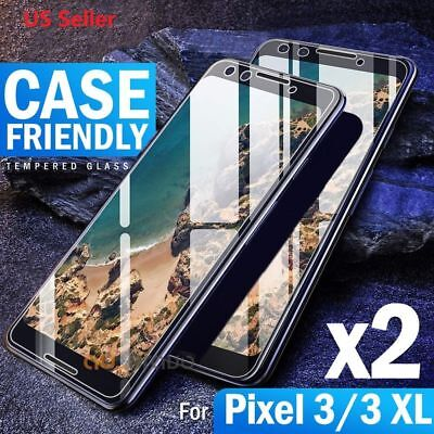 2x Pixel 3 /3 XL 2 /2 XL 9H Premium Tempered Glass Screen Protector For Google