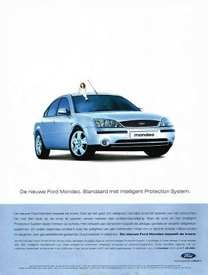 2001 Ford Mondeo (Dutch, 1pg.) Advertisement (AAA.129)