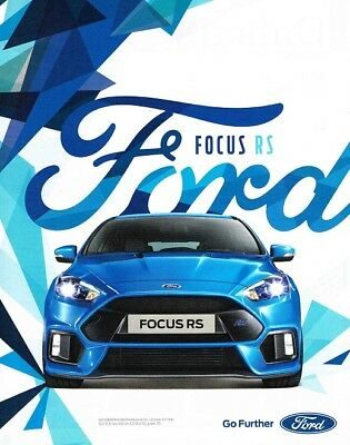 2016 Ford Focus RS (Dutch, 1pg.) Advertisement (AAA.156)