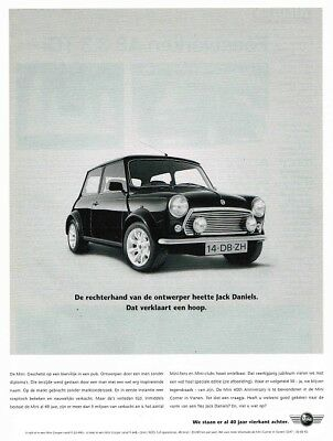 1999 Mini 40th Anniversary (Dutch, 1pg.) Advertisement (AAA.209)
