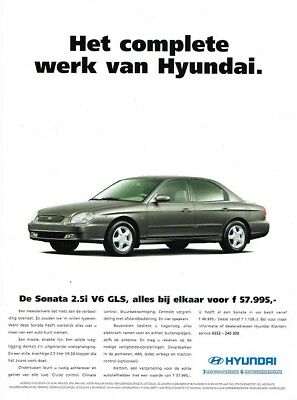 1999 Hyundai Sonata 2.5i V6 GLS (Dutch, 1pg.) Advertisement (AAA.178)