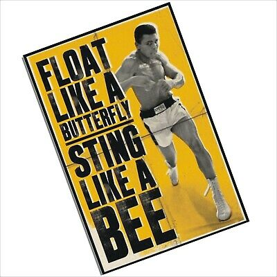 Aluminium Sign-Muhammad Ali-Metal Boxing Poster-Door,Wall Plaque,Sting,Butterfly