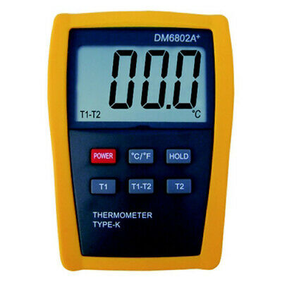 Contact Thermometer + 2x Type K Temperature Probes +1300°C (DM6802A +)
