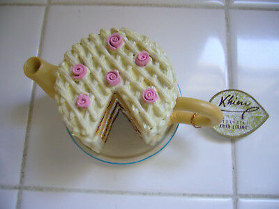 Khien Ceramic Miniature Cake Tea Pot