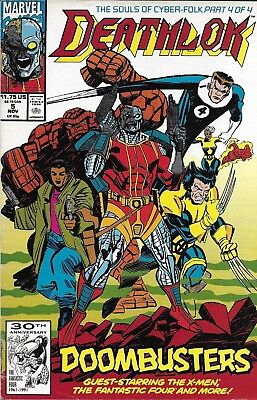 Deathlok Comic Issue 5 Copper Age First Print 1991 Mcduffie Cowan Manley Lopez