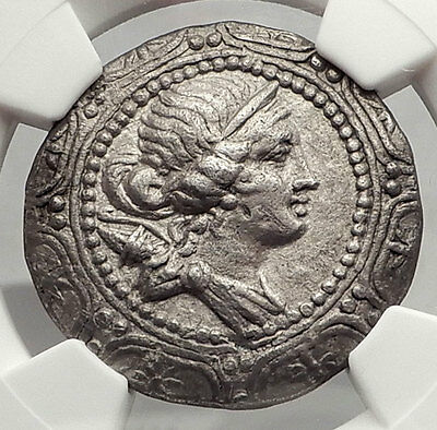 AMPHIPOLIS Roman Macedonia 167BC LARGE Silver Greek Tetradrachm Coin NGC i62452