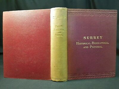 1910 SURREY Historical Houses ILLUSTRATED John Grant MANSIONS Victorian 1st Ed