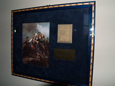Beautifully Framed 1777 Delaware Five Shillings Continental Currency Note