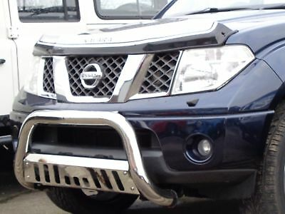Nissan Navara D40 2005-16 Front Chrome High Bull Bar Nuge Bar Axle Nudge - M98