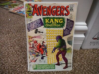 Avengers 8 Marvel 1964 1st appearance of Kang the Conqueror COMPLETE good movie