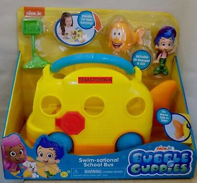 Bubble Guppies Swim Sational School Bus With Grouper Gil Figures