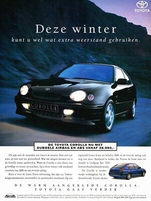 1999 Toyota Corolla (Dutch, 1pg.) Advertisement (AAA.243)