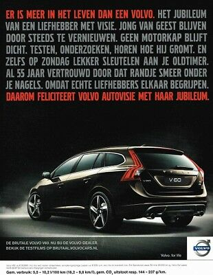 2010 Volvo V60 (Dutch, 1pg.) Advertisement (AAA.253)