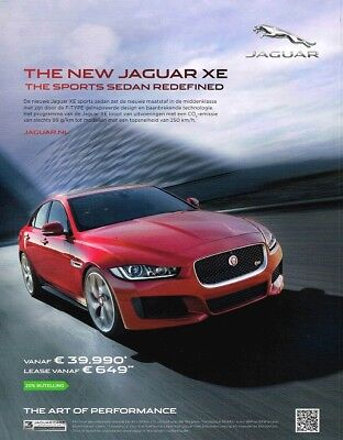 2015 Jaguar XE (Dutch, 1pg.) Advertisement (AAA.266)