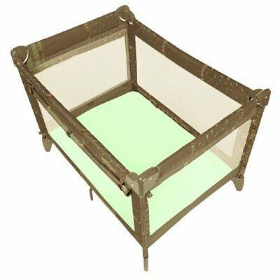 Baby Play Pen Infant Play Yard Fitted Home Pack n Portable Crib Sheet Green