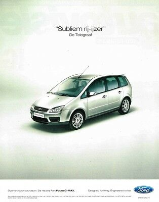 2004 Ford Focus C-MAX (Dutch, 1pg.) Advertisement (AAA.309)