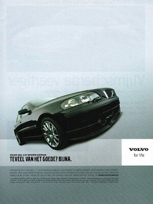 2004 Volvo S60 2.0T Sports Edition (Dutch, 1pg.) Advertisement (AAA.325)