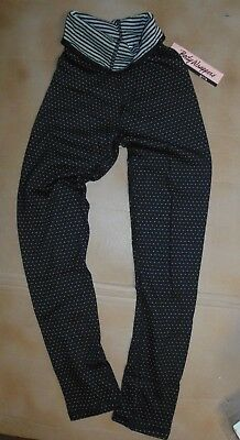 NWT girls reversible dance pants supersoft fun coverup BodyWrappers #3597 blk/wh