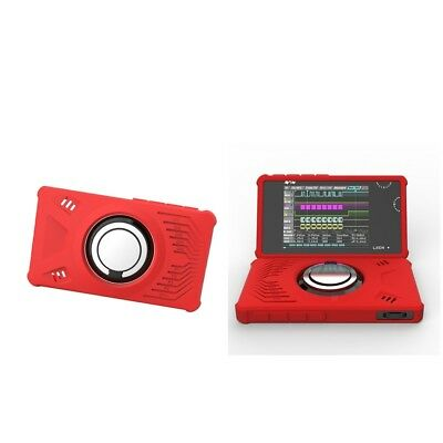 2Piece LA104 Logical Analyzers Protective Silicone Case Cover with Ring, Red